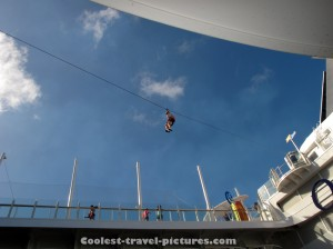 Zipline at the Oasis of the Seas