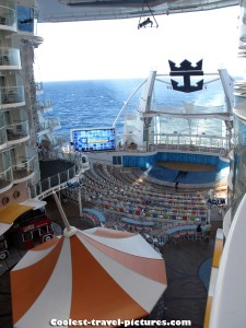 View from my Boardwalk Balcony Stateroom on Oasis of the Seas