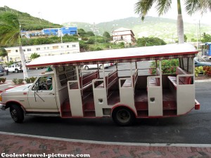 Taxi bus at Charlotte Amalie St. Thomas