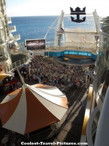 View from oasis of the seas boardwalk balcony stateroom